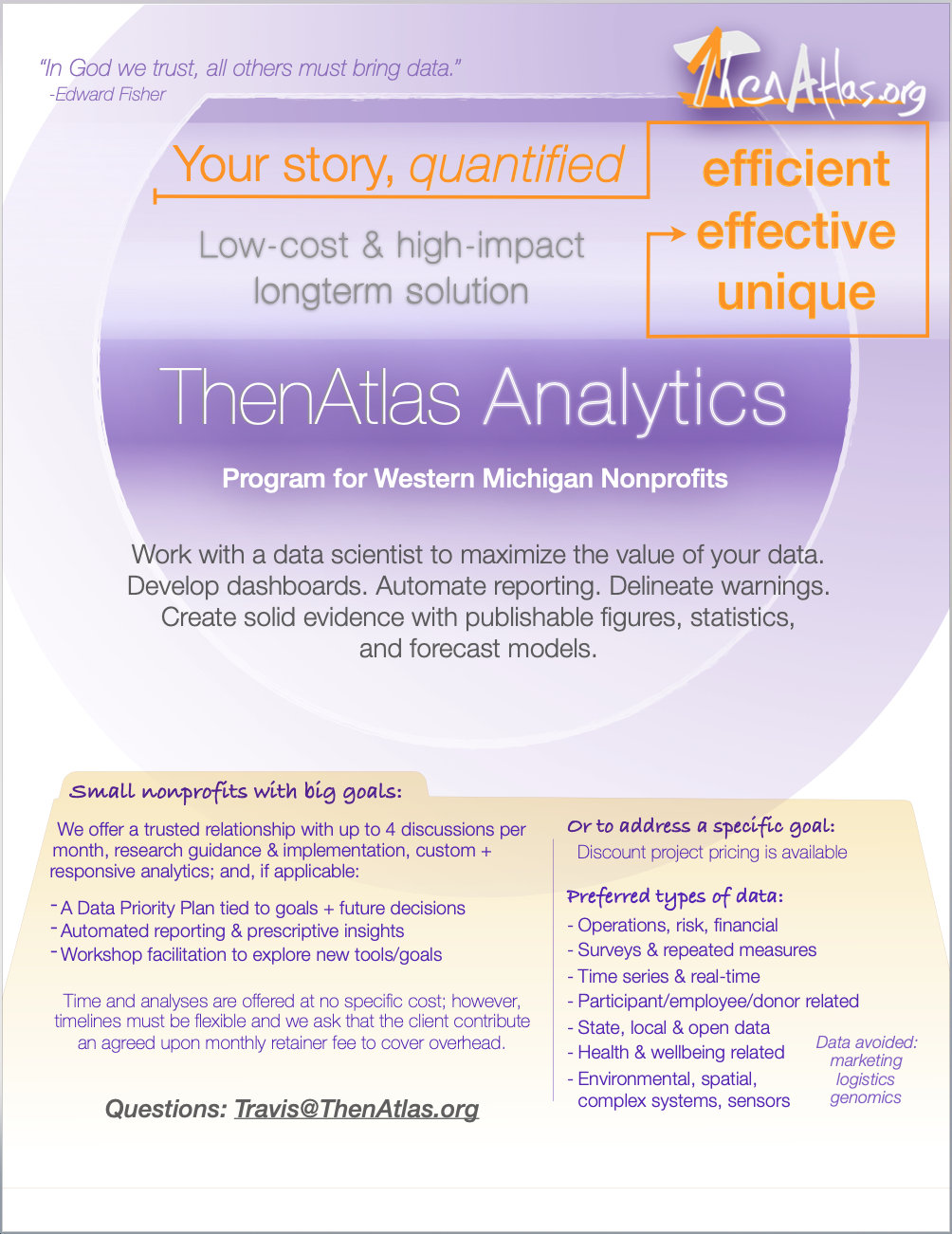 Describe nonprofit analytics services